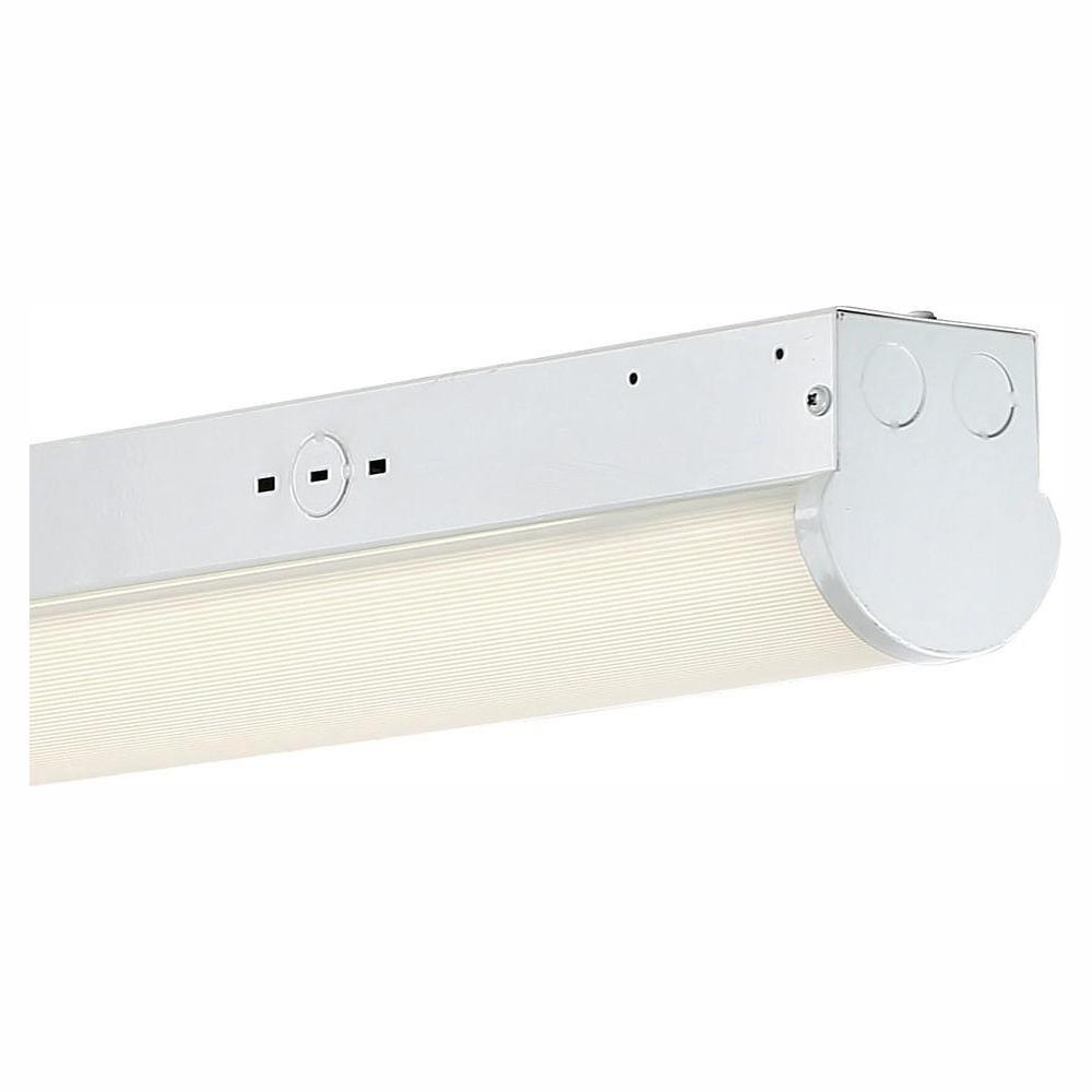 97-Watt 8 ft. White Integrated LED MV 10000 Lumen Surface Mount Strip Light