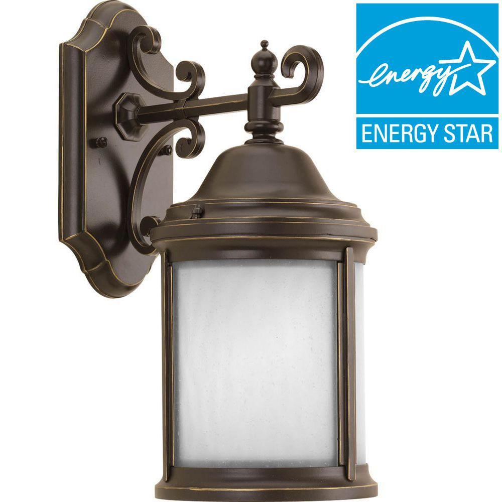 Ashmore Collection 1-Light Antique Bronze Outdoor Wall Lantern