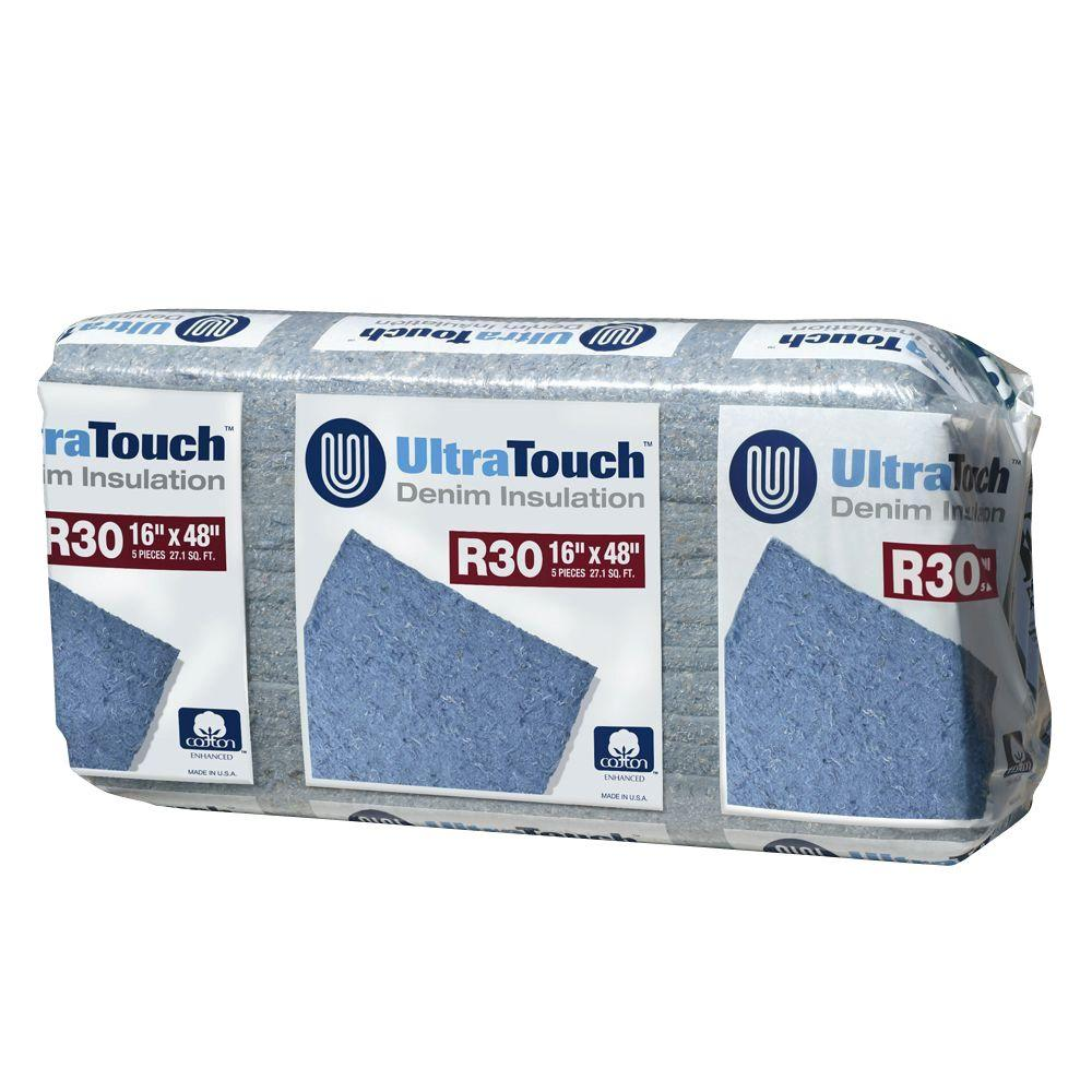 UltraTouch 16.25 in. x 48 in. R30 Denim Insulation (12-Bags)