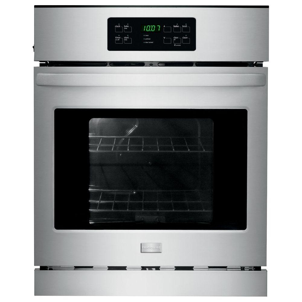 Frigidaire 24 In Single Electric Wall Oven Self Cleaning Stainless Steel