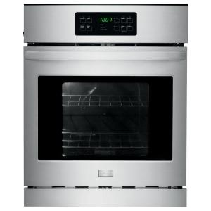 Frigidaire 24 inch Single Electric Wall Oven Self-Cleaning in Stainless Steel by Frigidaire