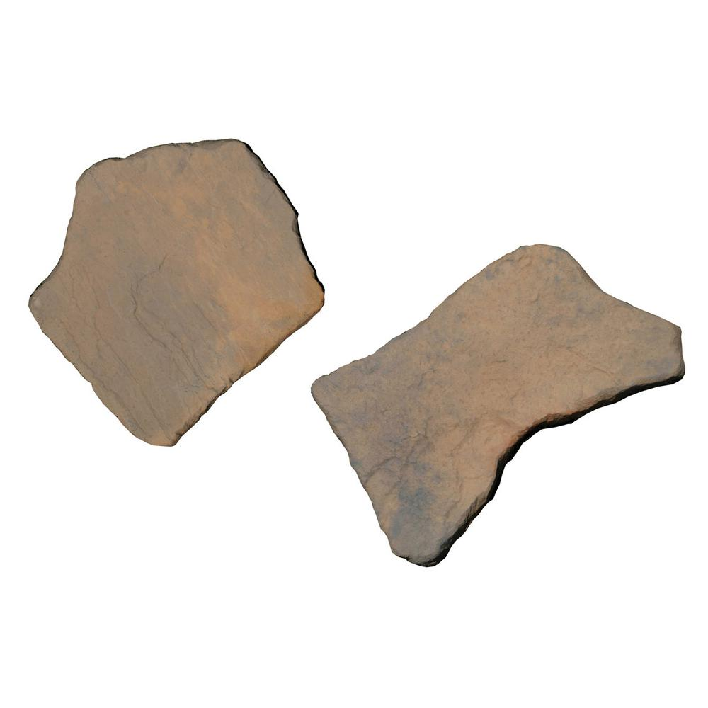 Nantucket Pavers 20 In. X 21 In. Irregular Concrete Tan Variegated Stepping  Stones Kit