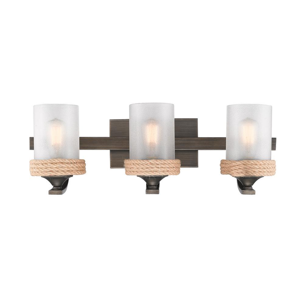 Chatham 3-Light Gunmetal Bronze Bath Vanity Light