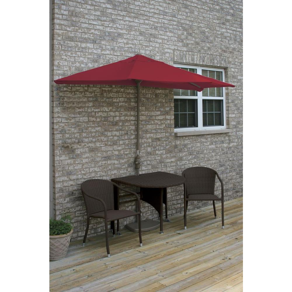 Terrace Mates Genevieve 5-Piece Java Patio Bistro Set with 9 ft.