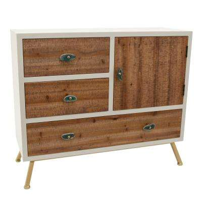 30.5 in. White Wood Cabinet