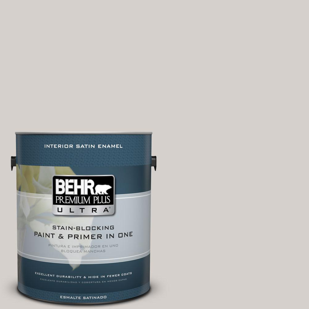 BEHR Premium Plus Ultra 1-gal. #N140-1 White City Satin Enamel Interior Paint