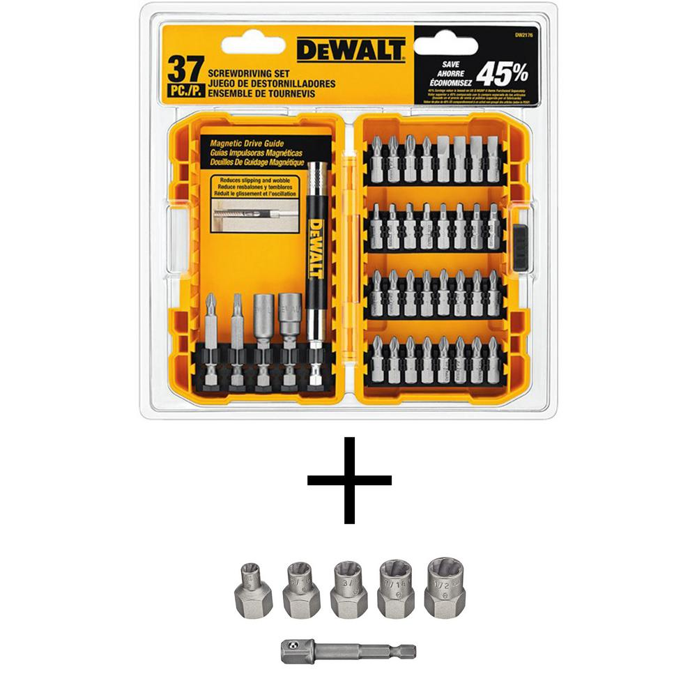 Screwdriving Set with Tough Case (37-Piece) with Max Impact Steel Extractor