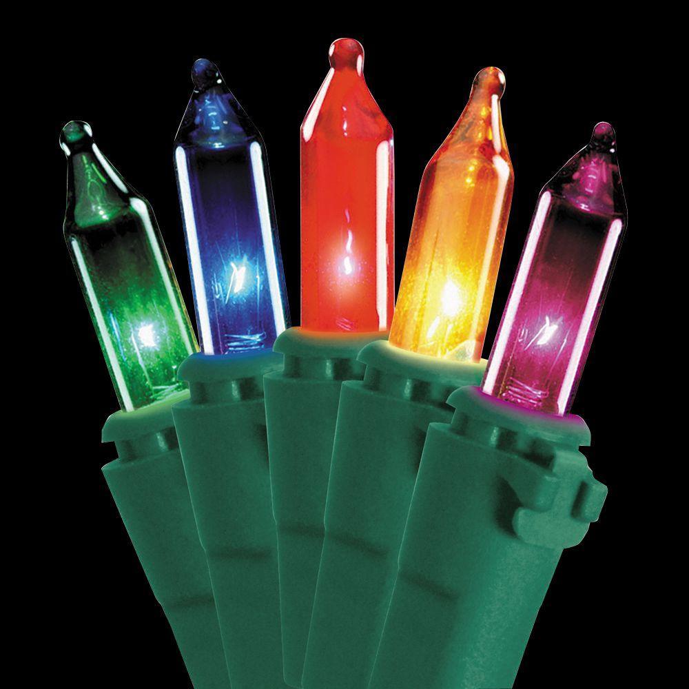 50-Light Ready Lit Multi-color Bulb String Light Set