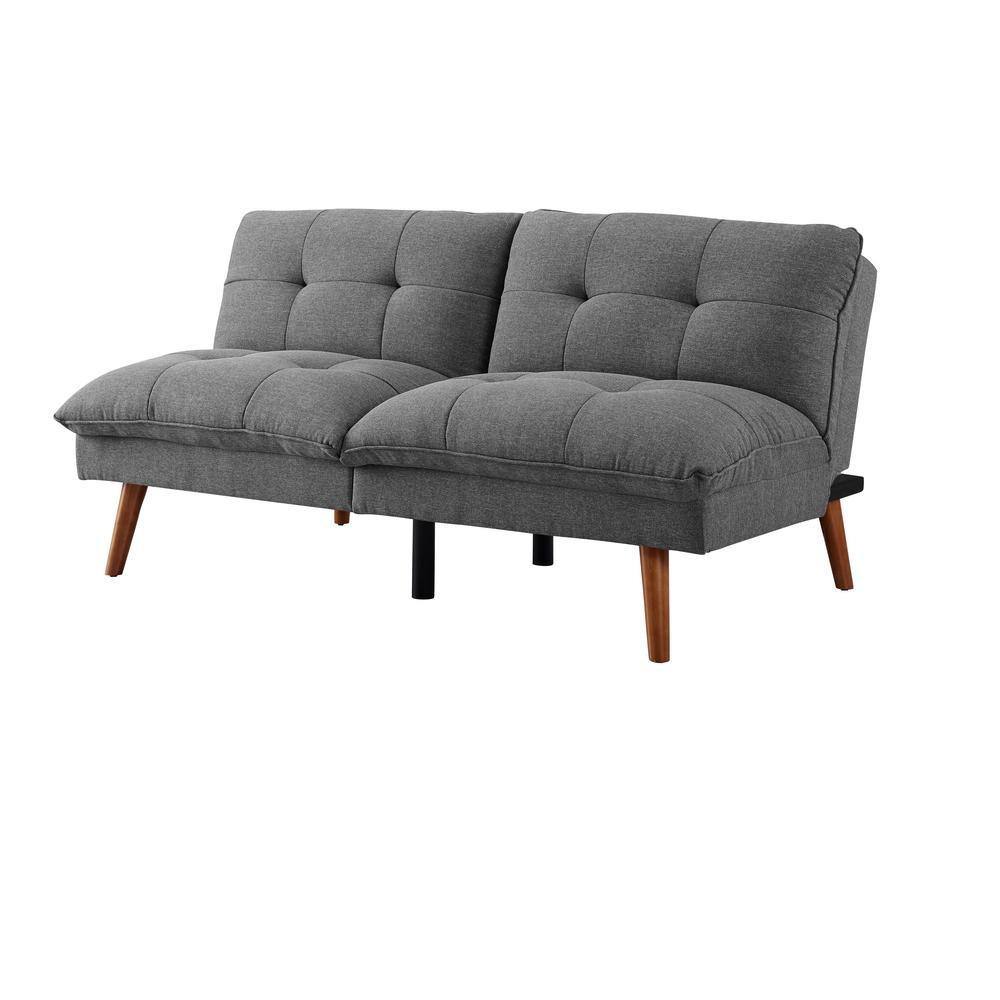 Sofas 2 Go Hartford Convertible Sofa, Grey SI-CA-HAR-GR ...
