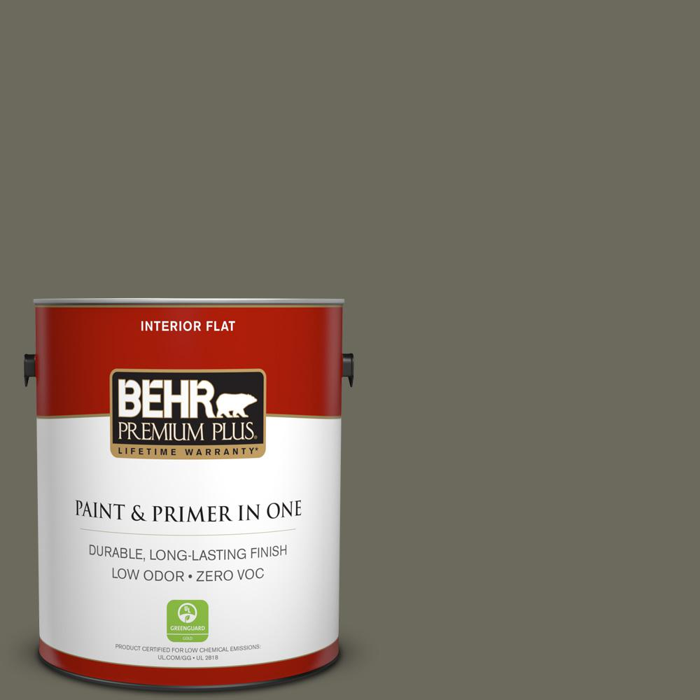 behr premium plus 1 gal n370 6 gladiator gray flat interior paint