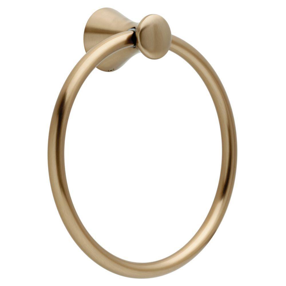 Lahara Towel Ring in Champagne Bronze