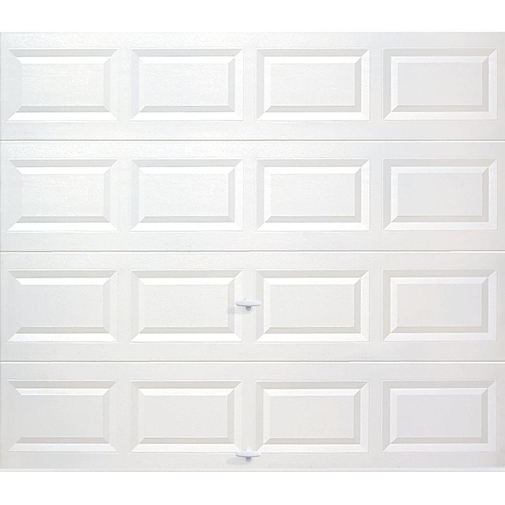 Classic Collection 8 ft. x 7 ft. Non-Insulated Solid White Garage