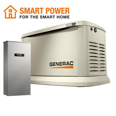 22000-Watt (LP)/19500-Watt (NG) Air-Cooled Standby Generator with Wi-Fi and Whole House 200 Amp NEMA3 Transfer Switch