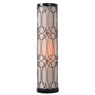 Moon 25 in. Bronze Table Lamp with Oatmeal shade