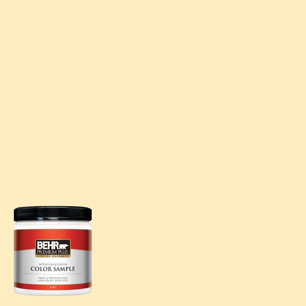 BEHR Premium Plus 8 oz. #380A-2 Moonlit Yellow Interior/Exterior Paint Sample