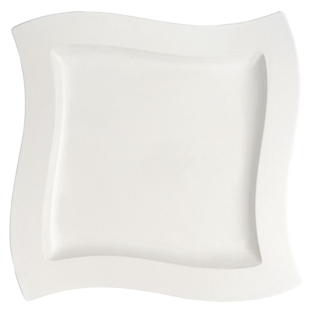 New Wave White Porcelain Dinner Plate