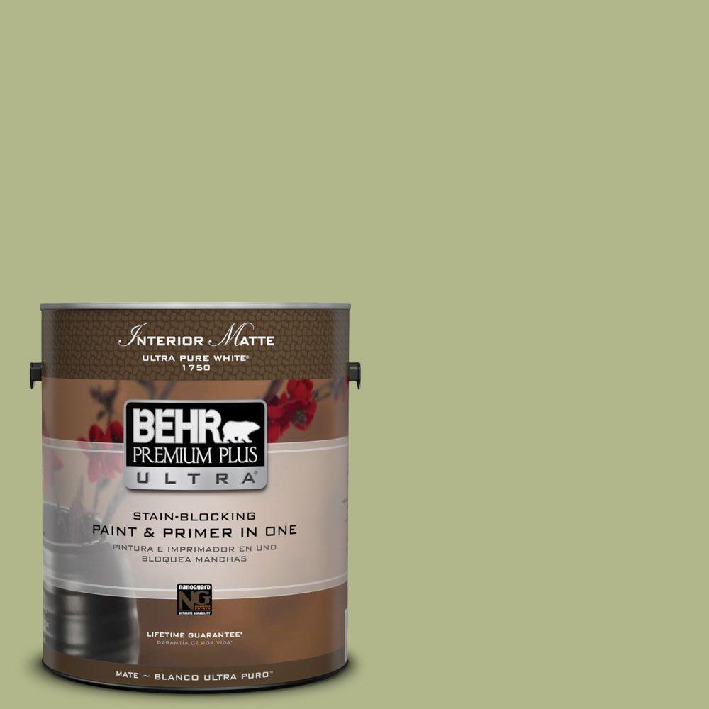 BEHR Premium Plus Ultra 1 gal. #M350-4 Sweet Grass Matte Interior Paint
