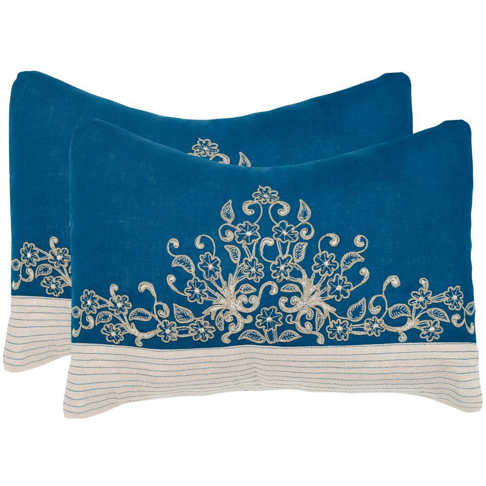 Safavieh Elena Embroidered Pillow (2-Pack) DEC326A-1220-SET2