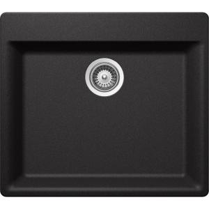 Elkay Premium Quartz Drop In/Undermount Composite 24 In. Single Bowl  Kitchen Sink In Charcoal HDSBD23208QCH   The Home Depot