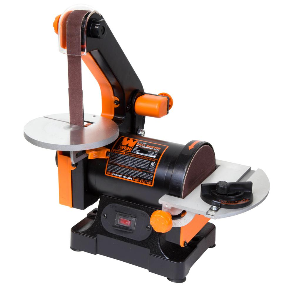 wen 1 in x 30 in belt sander with 5 in sanding disc. Black Bedroom Furniture Sets. Home Design Ideas