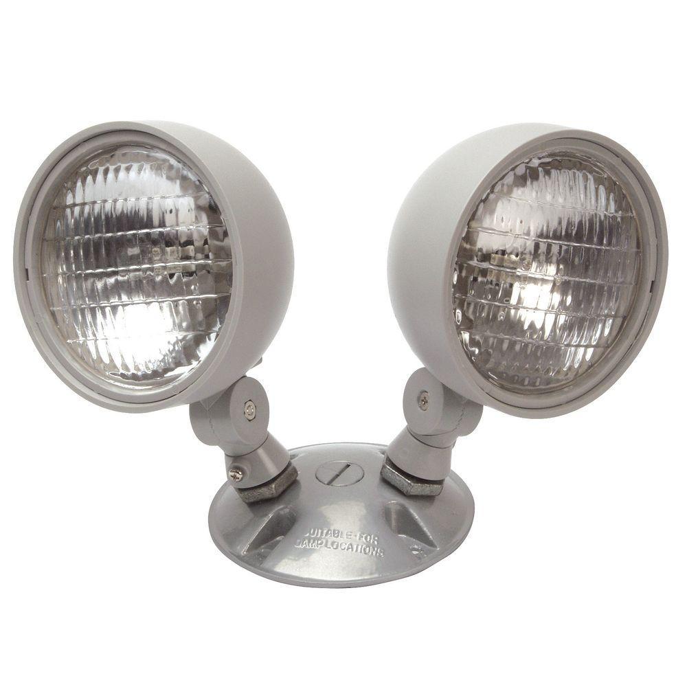 Nicor 7.2-Watt Dual Head Weatherproof Indoor/Outdoor Emergency Remote Lamp Fixture