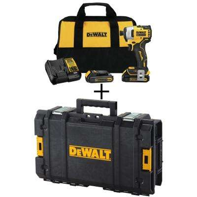 ATOMIC 20-Volt MAX Brushless Cordless 1/4 in. Impact Driver Kit,(2) 1.3Ah batteries, & charger w/ Bonus ToughSystem Case