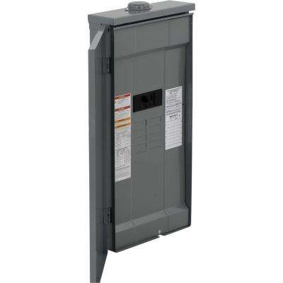 Homeline 150 Amp 8-Space 16-Circuit Outdoor Main Breaker Plug-On Neutral Load Center with Feed-Thru Lug
