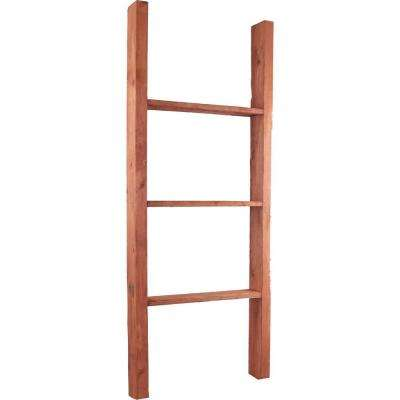 19 in. x 36 in. x 3 1/2 in. Barnwood Decor Collection Chalk Dust White Vintage Farmhouse 2-Rung Ladder