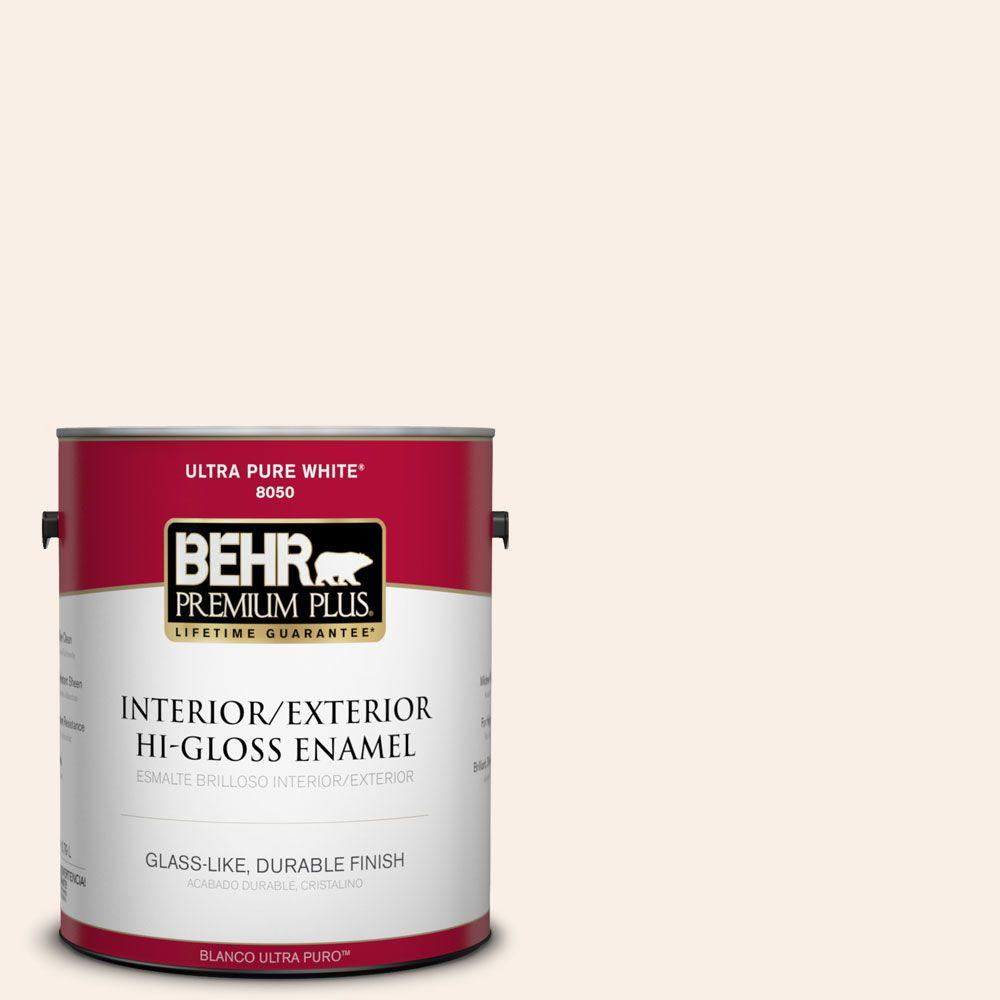 BEHR Premium Plus 1-gal. #250C-1 Bermuda Shell Hi-Gloss Enamel Interior/Exterior Paint