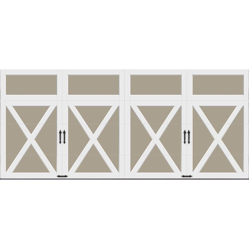 Clopay Coachman Collection 16 ft. x 7 ft. 18.4 R-Value Intellicore Insulated Solid Sandtone Garage Door