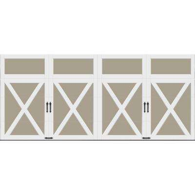 Coachman Collection 16 ft. x 7 ft. 18.4 R-Value Intellicore Insulated Solid Sandtone Garage Door