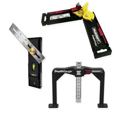 AngleFinder, Exactor, and DepthGauge - One convenient bundle for all of our measuring and marking needs.