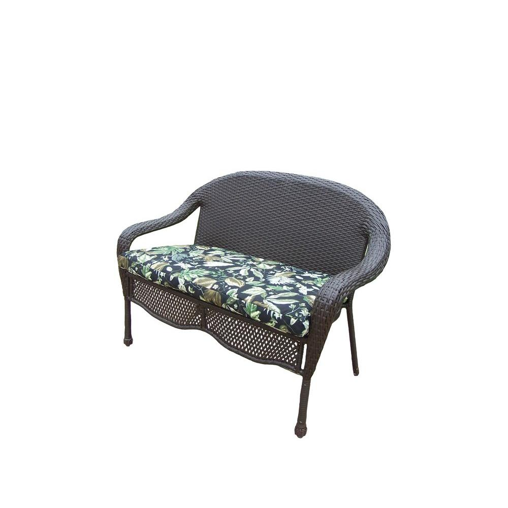 Oakland Living Elite Resin Wicker Patio Loveseat with Cushion