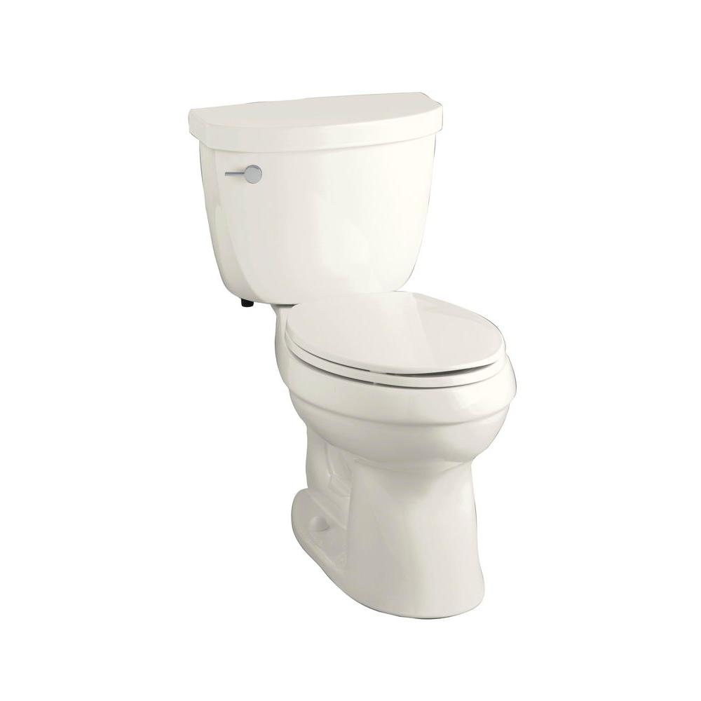 KOHLER Cimarron Comfort Height 2-piece 1.6 GPF Elongated Toilet with AquaPiston Flushing Technology in Biscuit