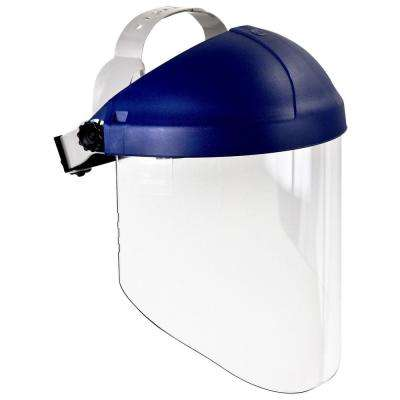 H8A Blue Ratchet Headgear with W96 Clear Propionate Faceshield (Case of 5 Each)