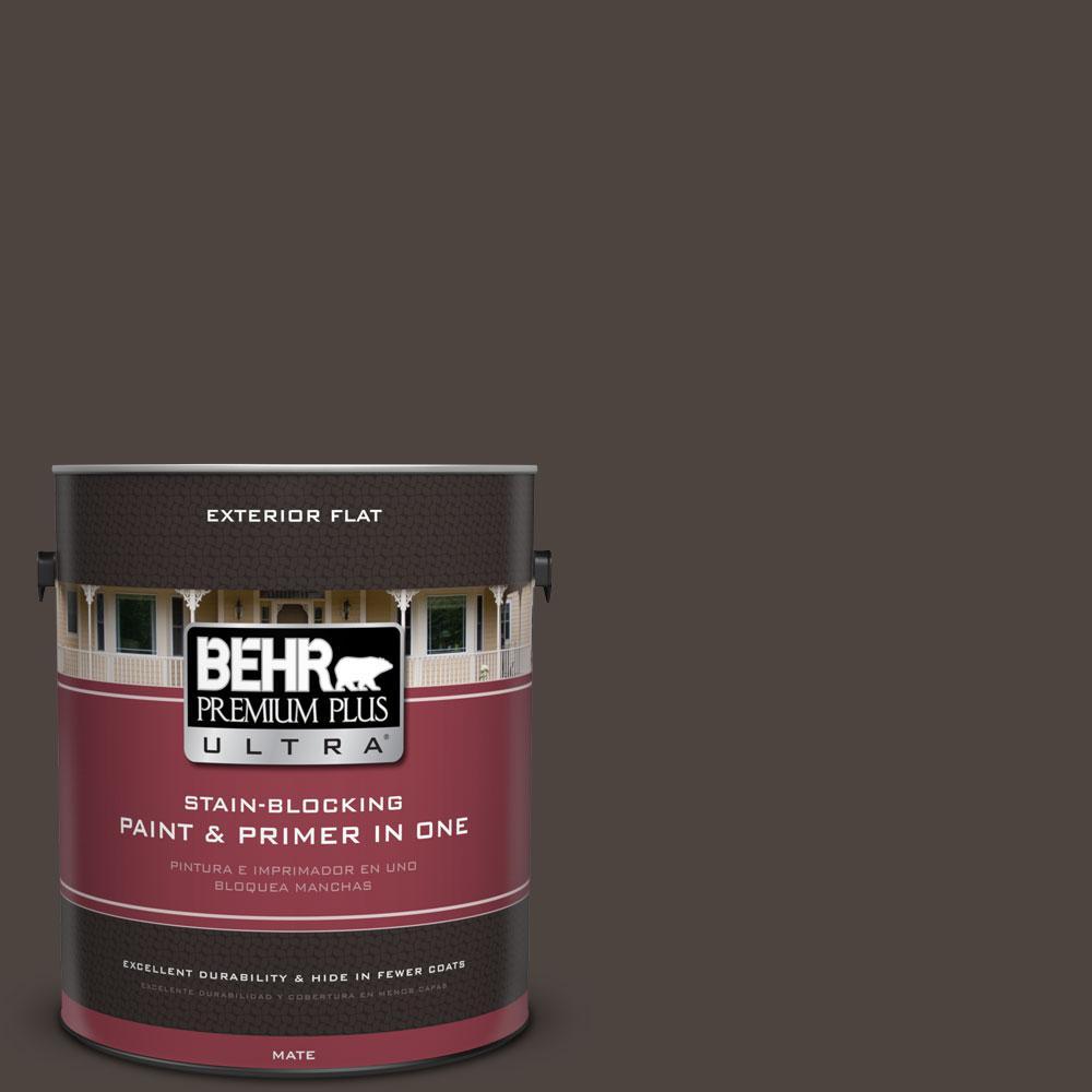BEHR Premium Plus Ultra 1-Gal. #PPU5-1 Espresso Beans Flat Exterior Paint