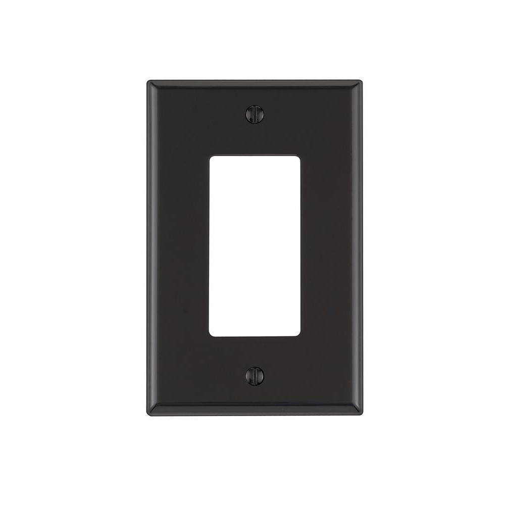 Black 1-Gang Decorator/Rocker Wall Plate (1-Pack)