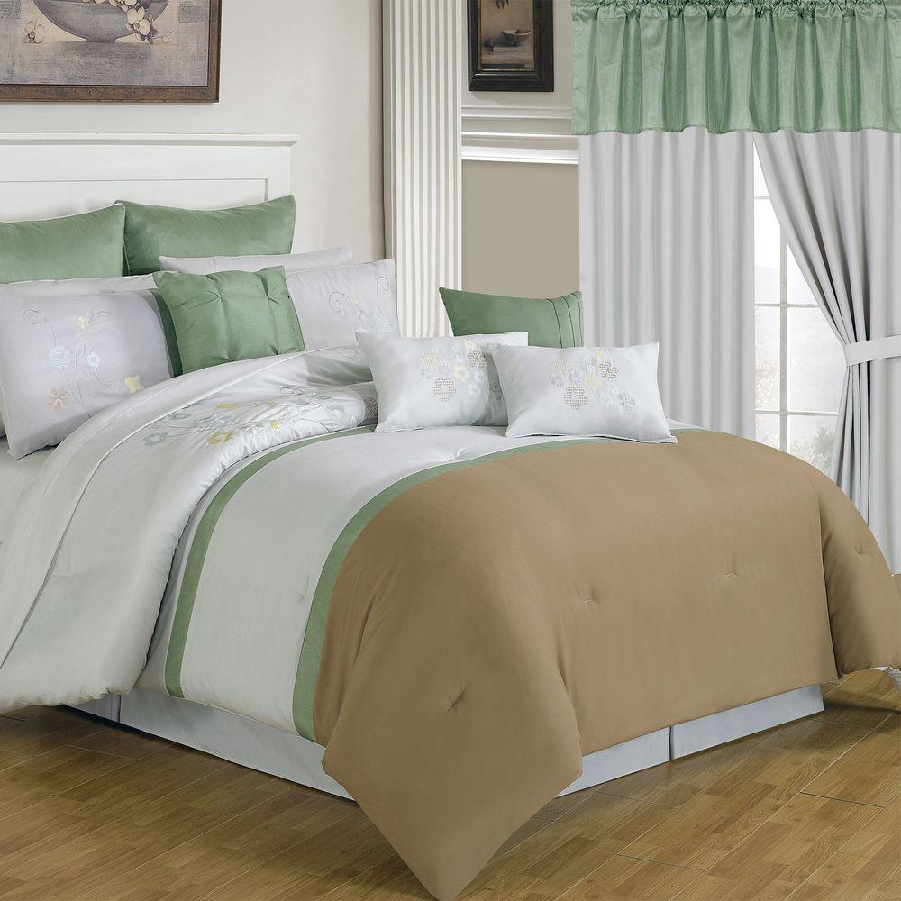 Elizabeth Tan 24-Piece Queen Comforter Set