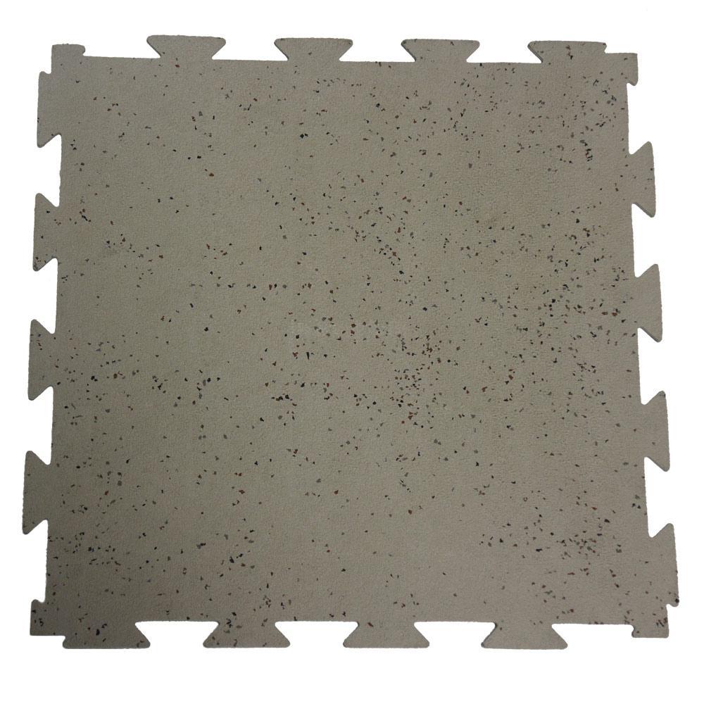 Rubber-Cal Terra-Flex 1/4 in. x 24 in. x 24 in. Dark Gray Interlocking Rubber Mat (5-Pack, 20 sq. ft.)