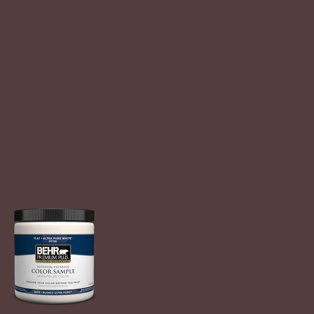 BEHR Premium Plus 8 oz. #PPH-74 Cafe Expreso Interior/Exterior Paint Sample