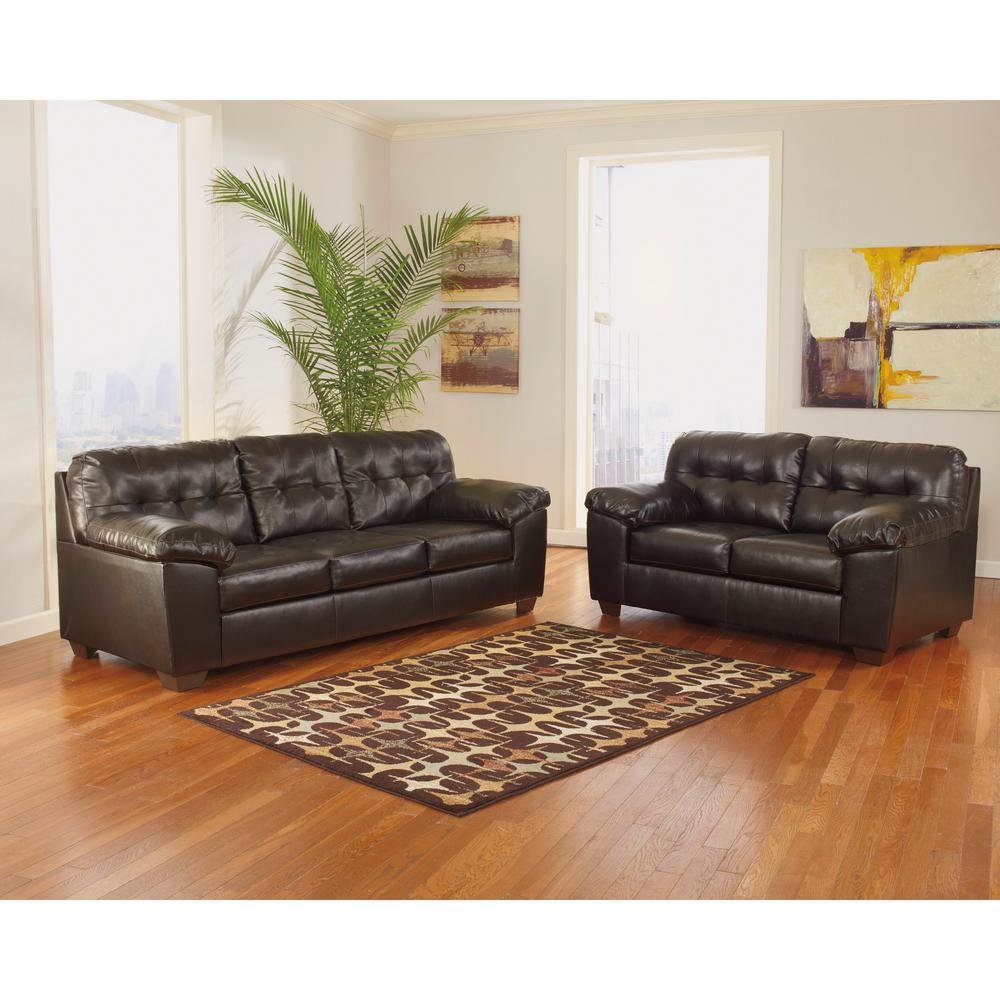 Flash Furniture Signature Design By Ashley Alliston 2 Piece Chocolate  DuraBlend Living Room Set