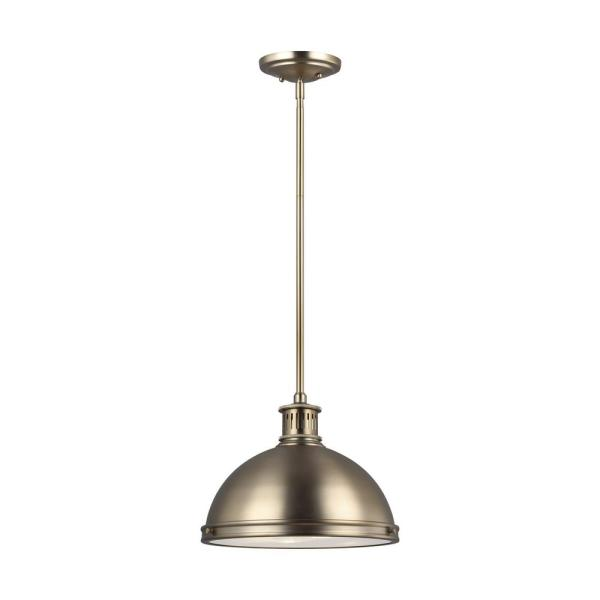 Pratt Street Metal 2-Light Satin Brass Pendant