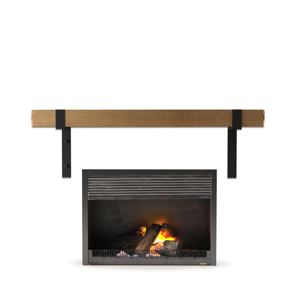 KINGSLEY 72 in. Fireplace Wall Mantel Shelf Natural