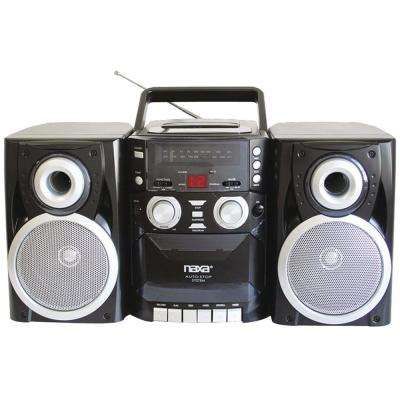 Portable Cd Player With Am/fm Radio, Cassette and Detachable Speakers