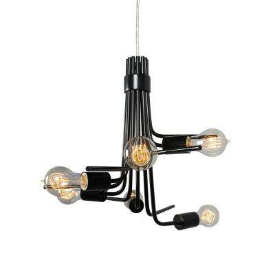 Socket-To-Me 6-Light Black Chandelier