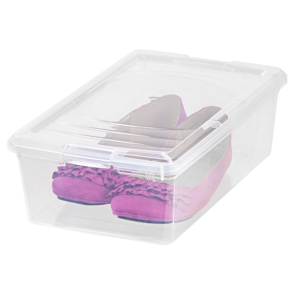 IRIS 6 Qt Modular Storage Box in Clear 101461 The Home Depot