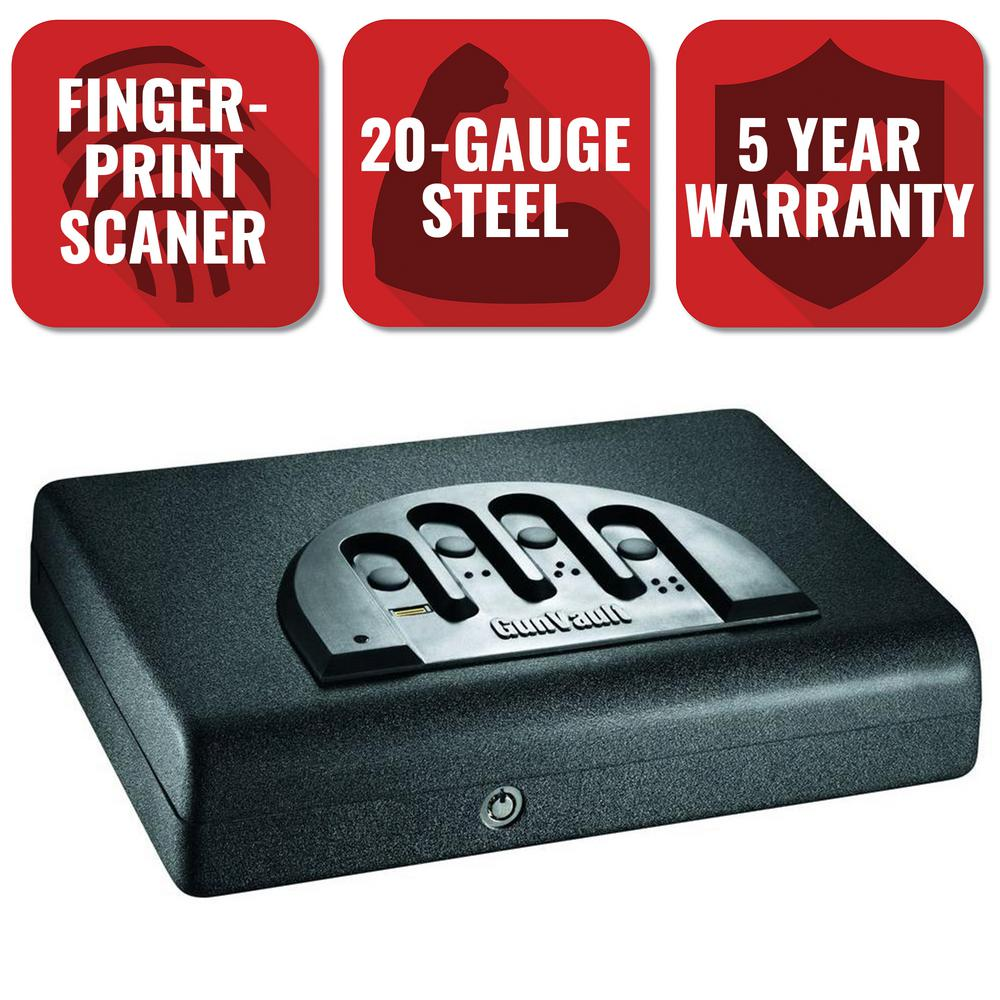 GunVault MicroVault Biometric Personal Security Handgun Safe with Fingerprint Reader