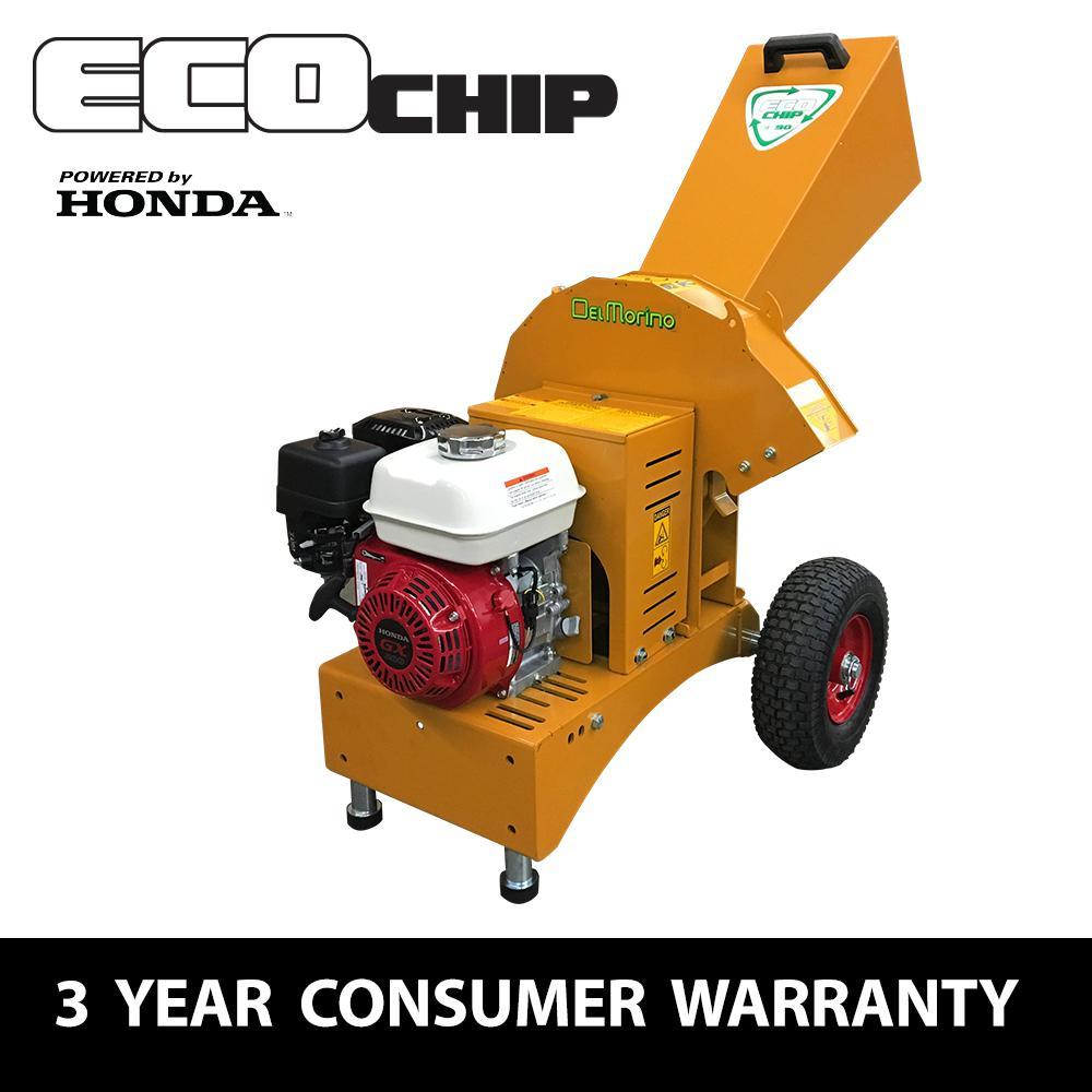 EcoChip 2.5 in. 196 cc Gas Powered Commercial-Duty Chipper Shredder