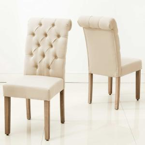 75118043516c Internet  308319713. +2. HomeRoots Caroline Beige Wood Side Chair ...