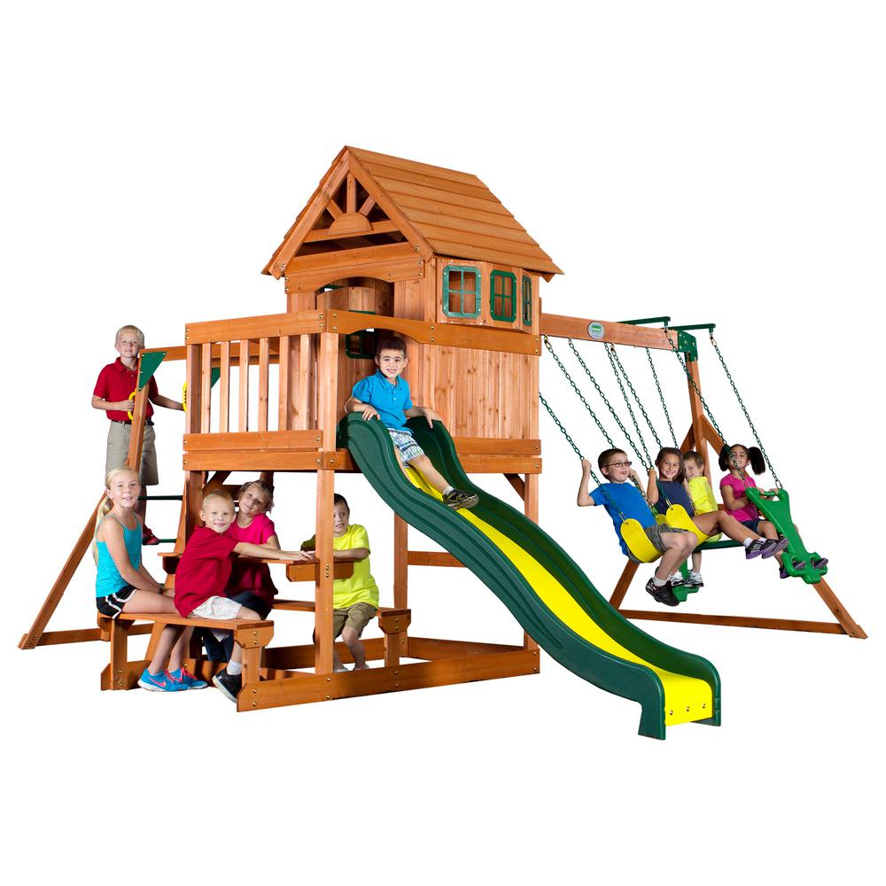 Backyard Discovery Springboro All Cedar Playset 40014com The Home